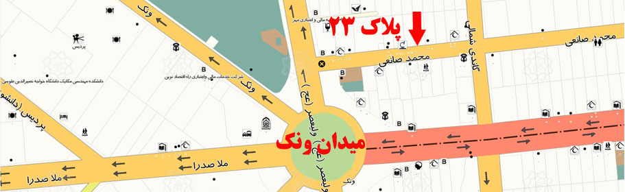 نقشه آدرس گلوریا سنتر